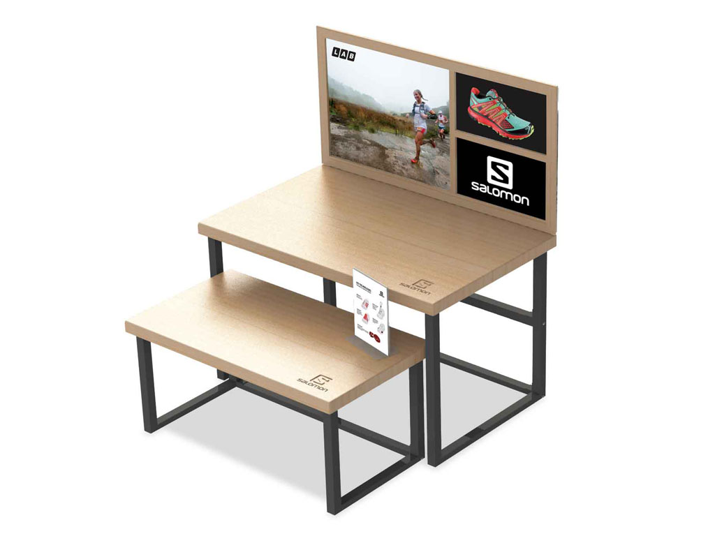 Salomon Retail Display Concept Designs Inc. Palo Alto CA. Full resolution  photo, nominally Width 1024 Height 768 pixels, photo with #A42727.