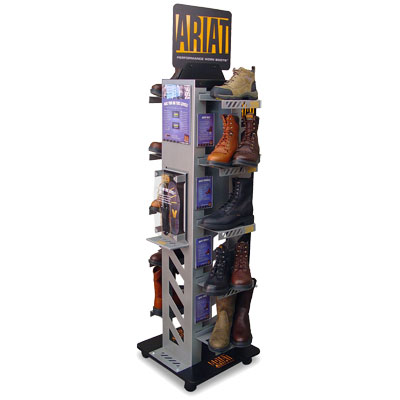 Ariat Retail Display branded boot work tower