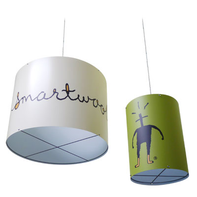 Smartwool branded printed vinyl cylindrical hanging signs