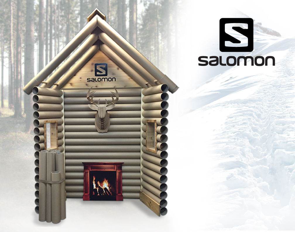 Salomon Epic Mountain Gear Cabin Window Display