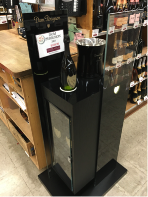 Your Brand Don Perignon floorstanding retail display
