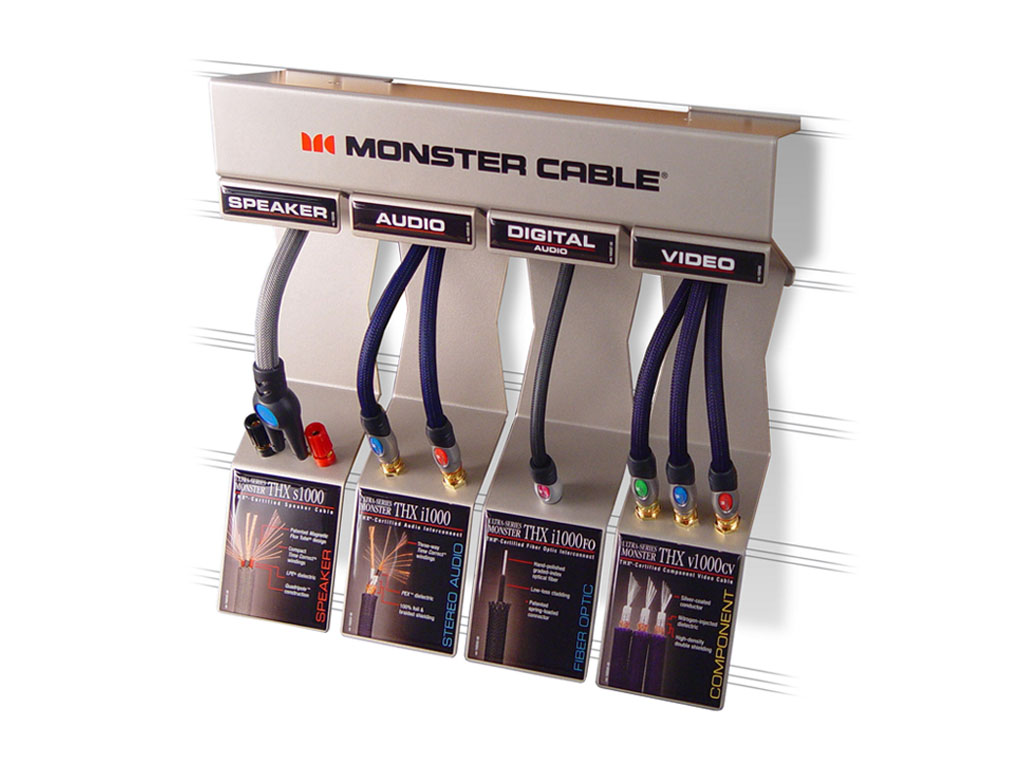 Monster product retail display concept designs inc for Product design inc